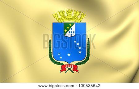 Flag Of Sao Luis City, Brazil.