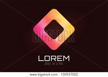 Vector square icon abstract logo template