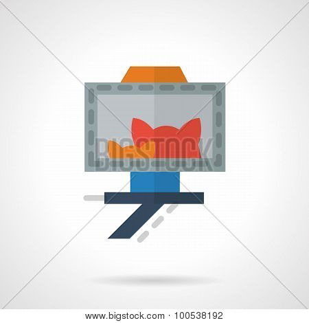 Cats selfie photo flat vector icon