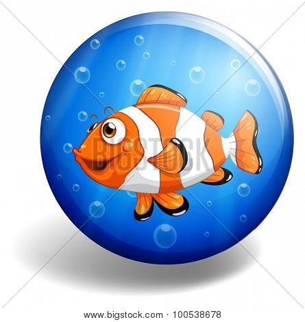 Clownfish swimming under the water illustration