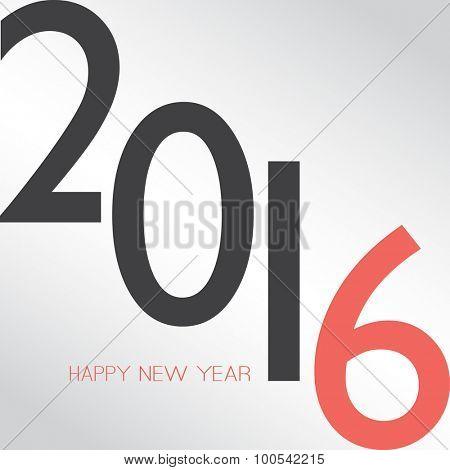 Retro New Year Card - 2016