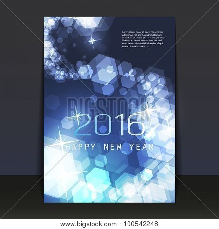 New Year Flyer, Card or Cover Design - 2016
