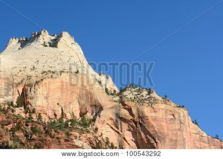 Rock formation in Zion National Park, Utah.