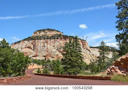 The Zion-Mount Carmel Highway in Zion National Park, Utah.
