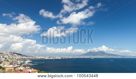 Gulf Of Naples Landscape With Mount Vesuvius