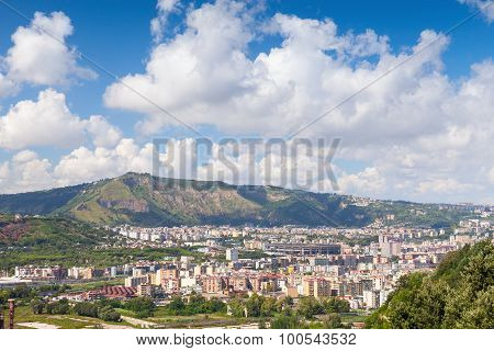 Naples Cityscape With Modern City Part