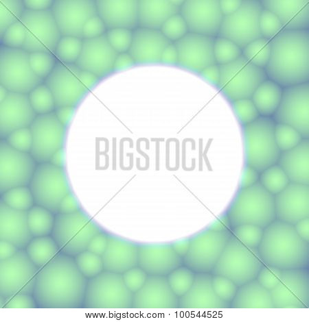 Frame Of Greenish Bubbles