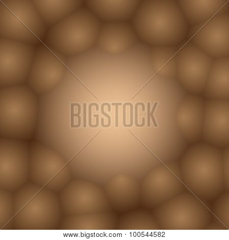 Background With Bubbles Beige