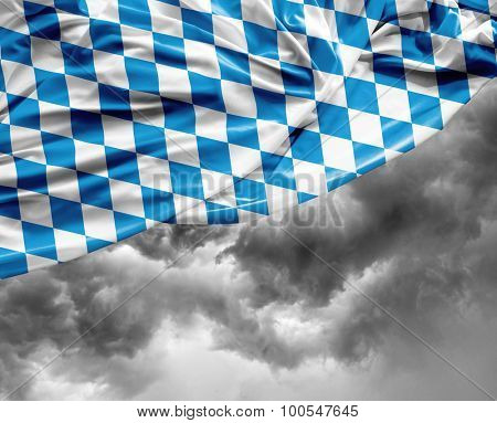 Bavarian waving flag on a bad day