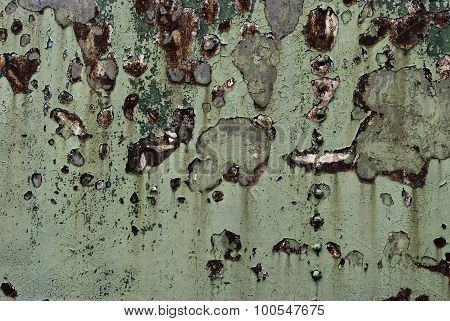 Flickering Grunge Background. Old rusty metal with scratches and cracks.
