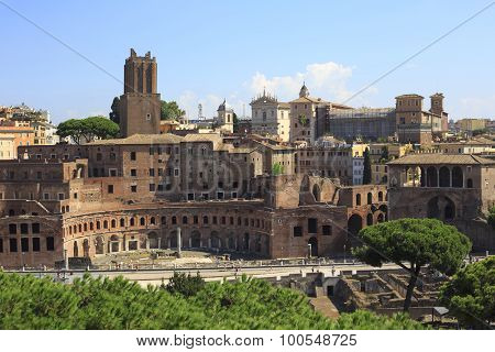 Trajan's Forum In Ancient Rome, Italy