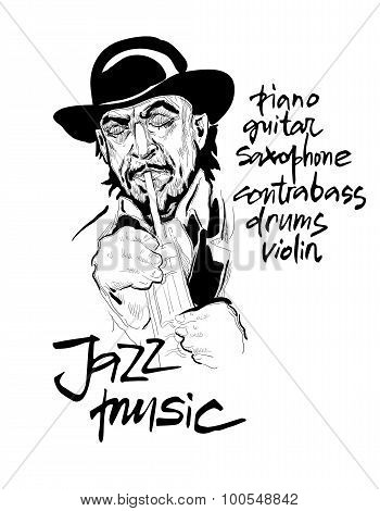Musicans Of Jazz. Vector Sketches.