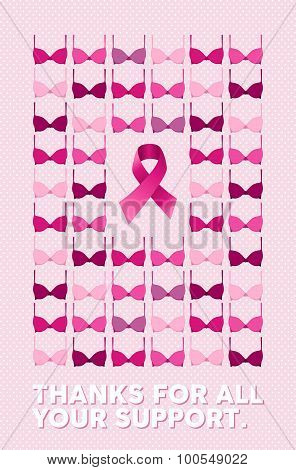 Breast cancer poster thanks for your support