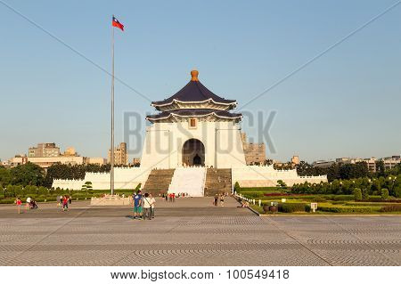 Chiang Kai-shek Memorial Hall At Liberty Square In Taipei City