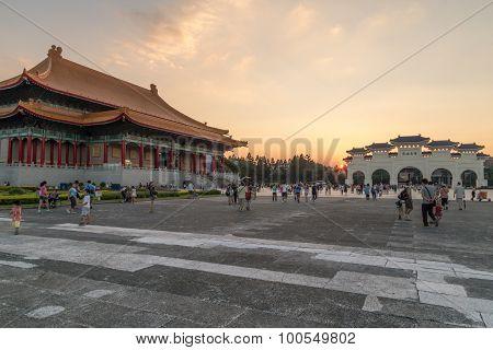Liberty Square In Taipei With Dazhong Zhizheng Gates