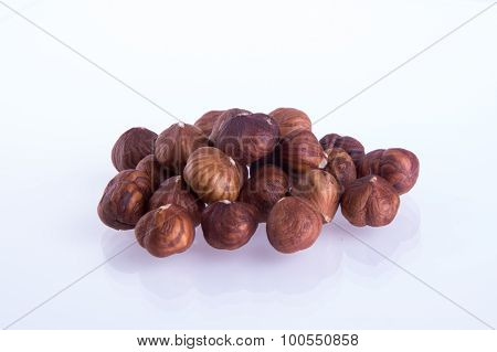 Hazelnuts. Hazelnuts On The Background
