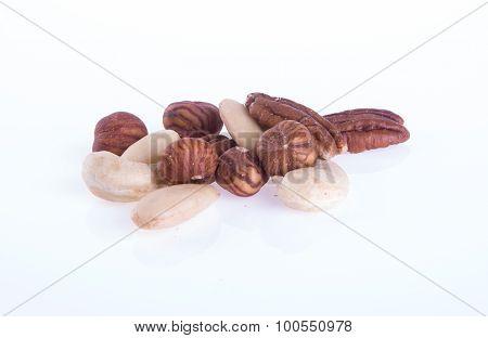 Mix Nut. Mix Nut On The Background