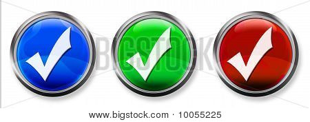 Checkmark 3-D RGB Buttons