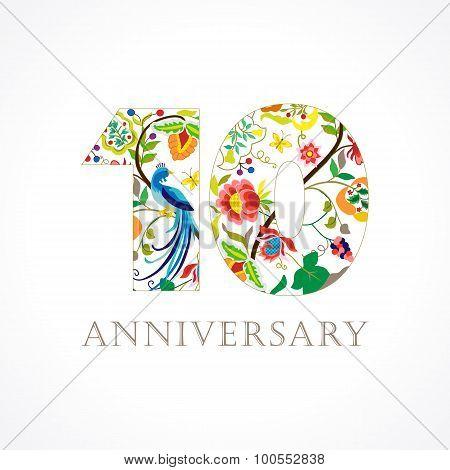 10 anniversary folk logo