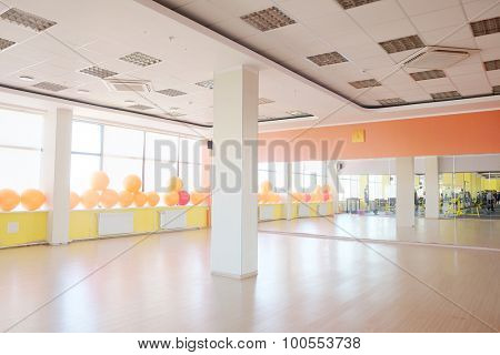 interior of yoga & dance classroom