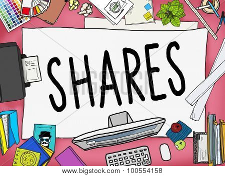 Shares Sharing Help Give Dividend Group Concept