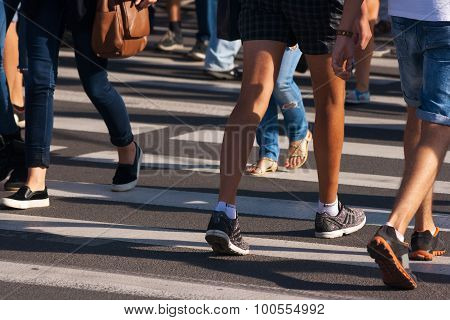 Feet Of Pedestrians