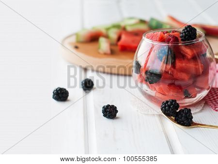 Summer Fruit Salad Of Watermelon Flesh