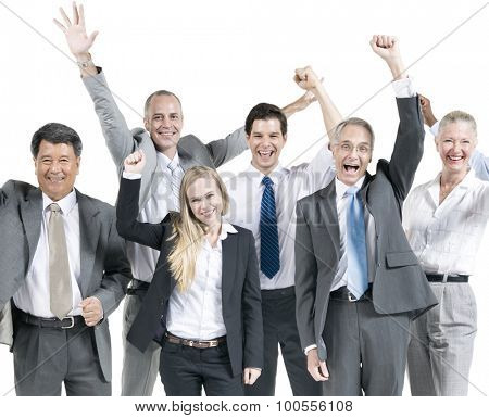 Business People Corporate Celebration Success Concept