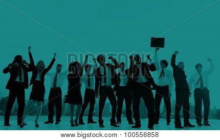 Business People New York Celebration Concept