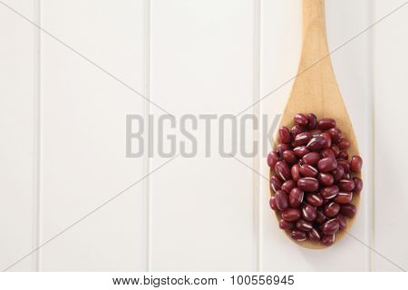 a spoon of adzuki beans