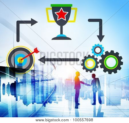 Success Growth Improvement Mission Strategy Concept