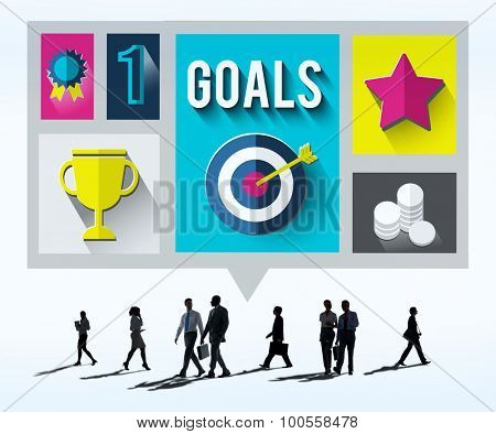Goals Achievement Successful Winner Target Concept