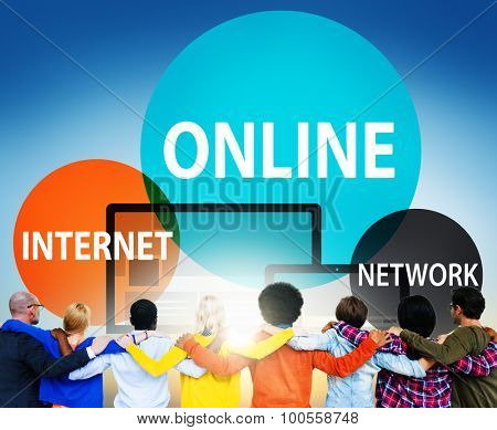 Online Network Internet Connecting Concept
