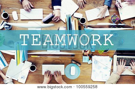 Group of Business People Working Meeting Teamwork Concept