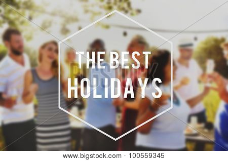 Summer Beach Friendship Best Holiday Vacation Concept