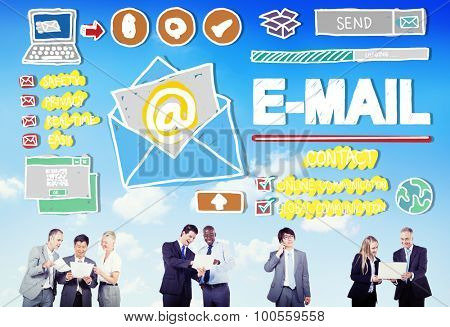 Email Correspondance Online Messaging Technology Concept
