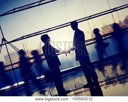 Businessman People Handshake Corporate Greeting Communication Concept