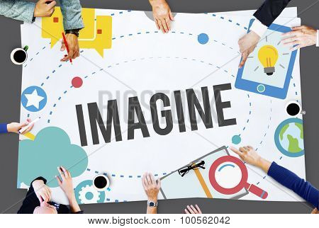 Imagine Imagination Ideas Innovate Thinking Concept