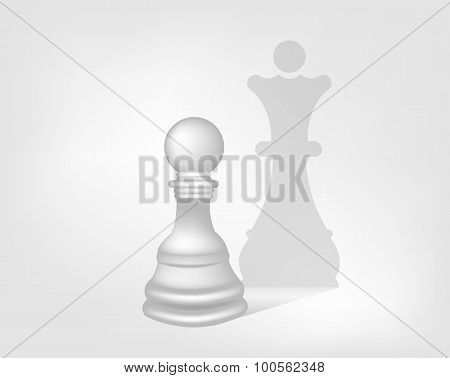 Pawn With The Shadow Of The Queen