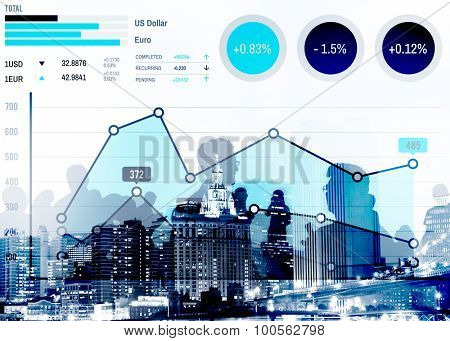 Finance Growth Business Marketing Success Analysis Concept