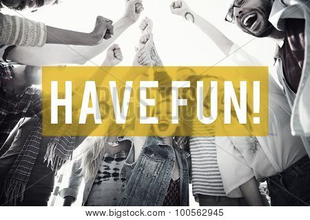 Have Fun Summer Friendship Beach Vacation Concept