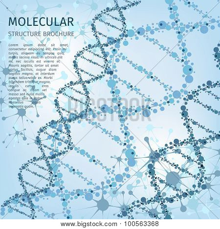 Molecule structure background for communication concept