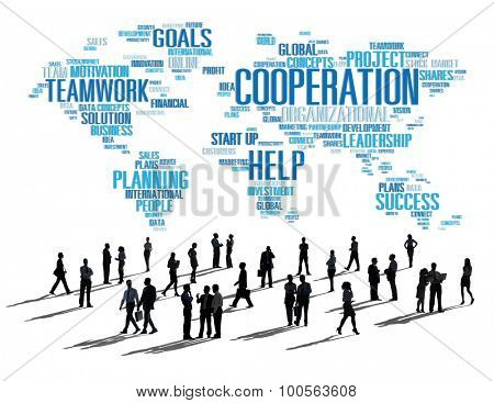 Corperation Business Coworker Planning Teamwork Concept