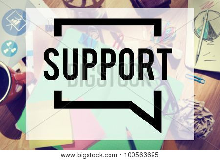 Support Assistance Aid Community Motivation Team Concept