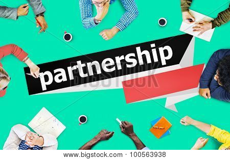 Partnership Teamwork Team Building Organization Concept