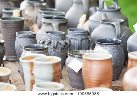 Pottery and Different Handicrafts at market