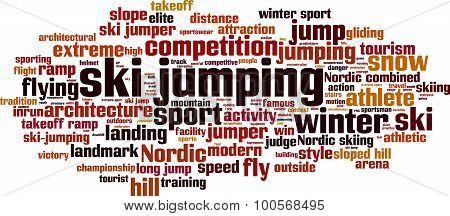 Ski Jumping Word Cloud
