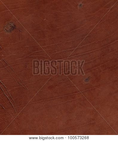 Texture of natural brown scratched leather