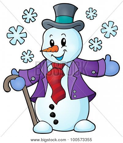 Winter snowman topic image 1 - eps10 vector illustration.