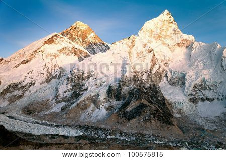 Evening View Of Mount Everest From Kala Patthar